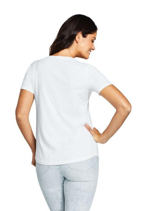 Women's Short Sleeve Supima V-neck Pocket T-shirt