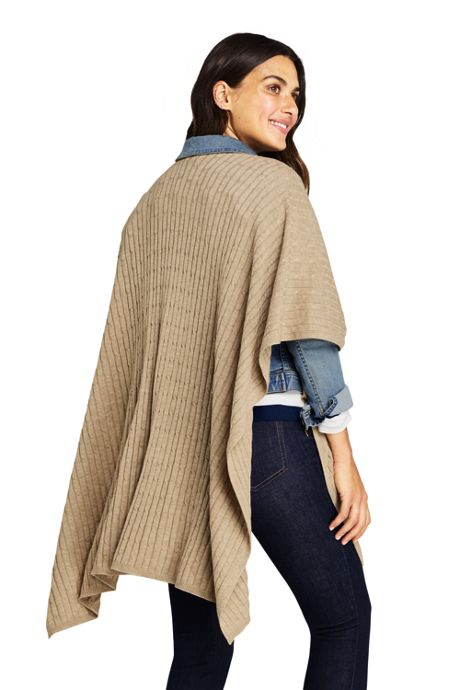 Women's Cable Knit Shawl Wrap