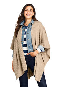 School Uniform Women's Cable Knit Shawl Wrap