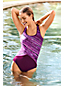 Women's Chlorine Resistant Tugless Swimsuit, Splice Print