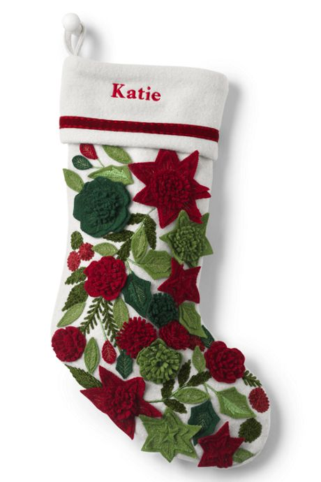 Embellished Personalized Christmas Stocking