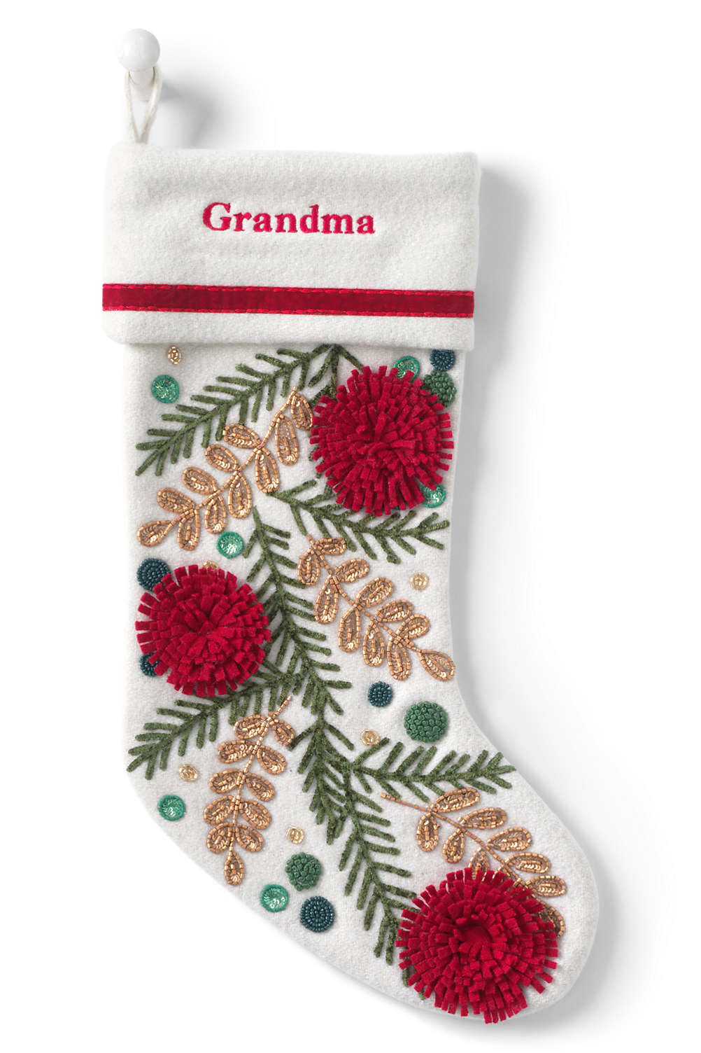 Lands End Christmas Stockings.Embellished Personalized Christmas Stocking