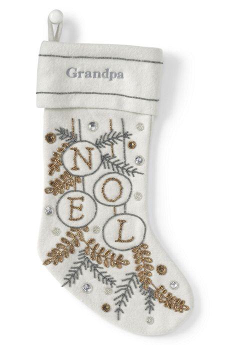 Embellished Personalized Christmas Stocking
