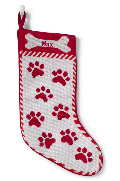 Needlepoint Personalized Christmas Stocking for Pet