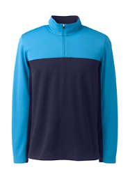 Men's Big Textured Colorblock Quarter Zip Pullover