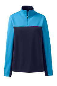 Women's Textured Colorblock Quarter Zip Pullover