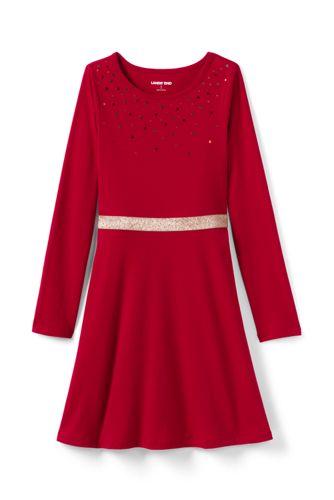 Robe Patineuse avec Paillettes, Toute Petite Fille