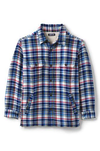 メンズ・シェルパラインド・フランネル・シャツジャケット