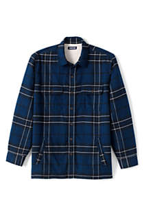 Men's Traditional Fit Sherpa Lined Flannel Shirt Jacket, alternative image