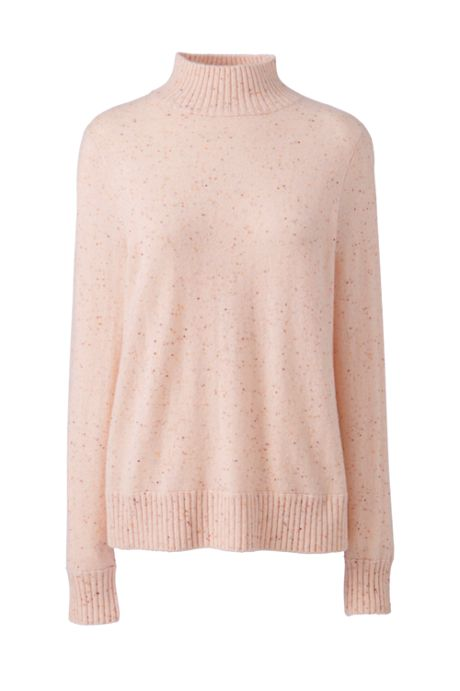 Women's Petite Cashmere Relaxed Mock Neck Sweater