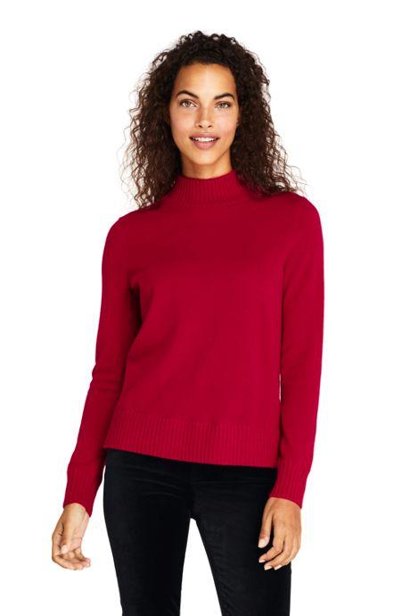 Women's Cashmere Relaxed Mock Neck Sweater