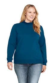 Women's Plus Size Serious Sweats Turtleneck Long Sleeve Sweatshirt