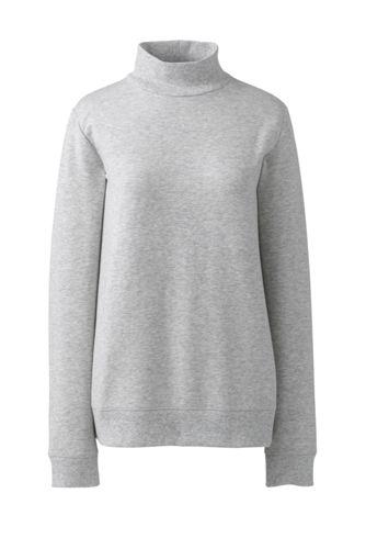 Women's French Terry Polo Neck Sweatshirt
