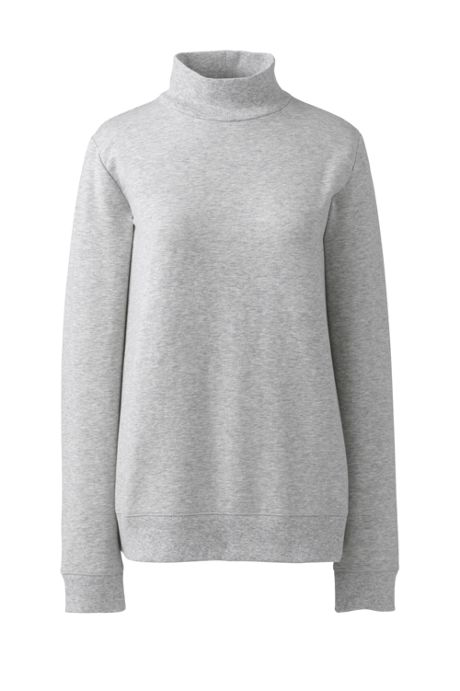 Women's Plus Size Serious Sweats Turtleneck Long Sleeve Sweatshirt