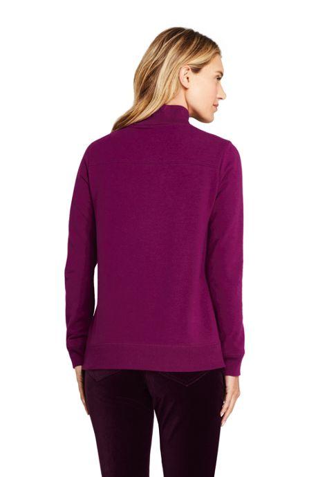 Women's Petite Serious Sweats Turtleneck Long Sleeve Sweatshirt