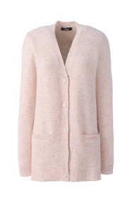 Women's Petite Cashmere V-neck Long Cardigan Sweater