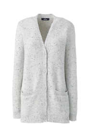 Women's Plus Size Cashmere V-neck Long Cardigan Sweater