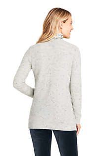 Women's Cashmere V-neck Long Cardigan Sweater, Back