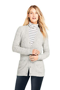 Women's Cashmere V-neck Long Cardigan Sweater, Front
