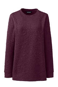 Women's Plus Size Textured Long Sleeve Sweatshirt Tunic
