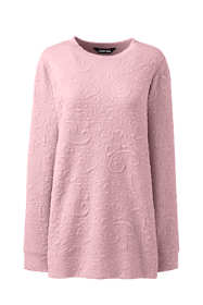 Women's Textured Long Sleeve Sweatshirt Tunic