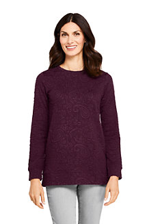 Sweatshirt Long Stretch Texturé, Femme