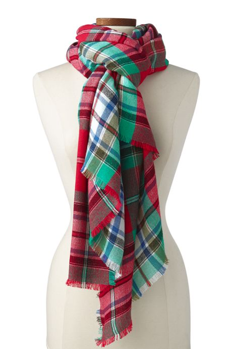 Women's Plaid Blanket Scarf