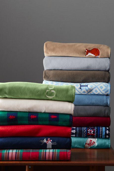 Plush Fleece Printed Throw Blanket