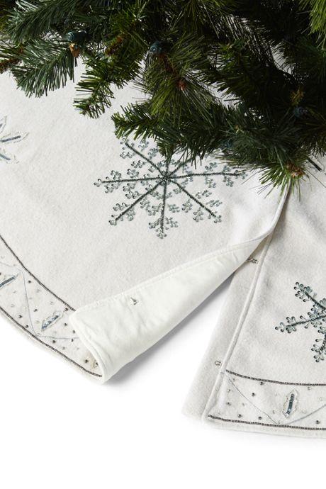 Embellished Christmas Tree Skirt