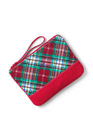 Medium Christmas Print Canvas Zipper Pouch