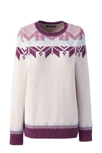 Pullover im Baumwollmix mit Fairisle-Muster