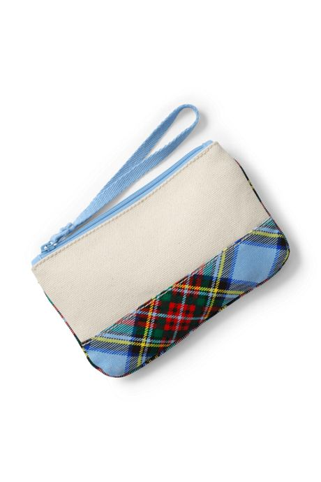 Small Christmas Print Canvas Zipper Pouch
