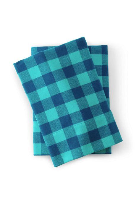 5oz Velvet Flannel Plaid Pillowcases