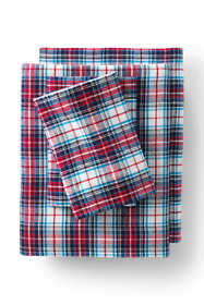 5oz Velvet Flannel Plaid Sheets