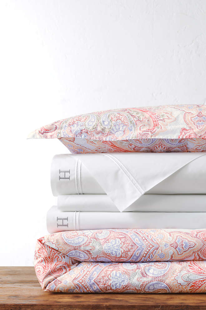 Italian Percale Printed Duvet Cover, Front