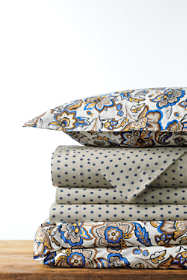 Supima Cotton Percale Printed Duvet Cover - 300 thread count