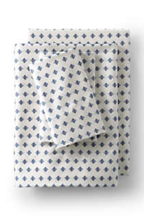 Supima Cotton No Iron Sateen Printed Pillowcases - 400 Thread Count, Front