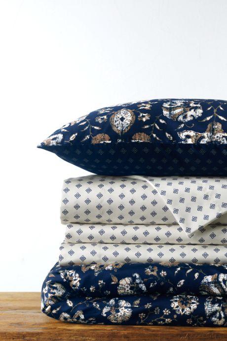 Supima Cotton No Iron Sateen Print Duvet Cover - 400 Thread Count