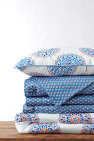 Supima Cotton No Iron Sateen Print Duvet Cover - 400 Thread Count