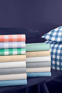 Easy Care Percale Solid Sheets Lands End