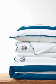 Supima Cotton No Iron Sateen Border Duvet Cover - 400 Thread Count