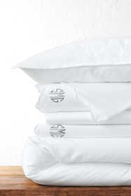 Supima Cotton No Iron Sateen Border Duvet Cover - 400 Thread Count