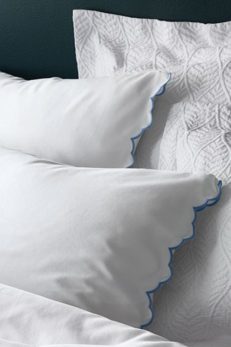 Supima Cotton No Iron Sateen Scallop Pillowcases - 400 Thread Count