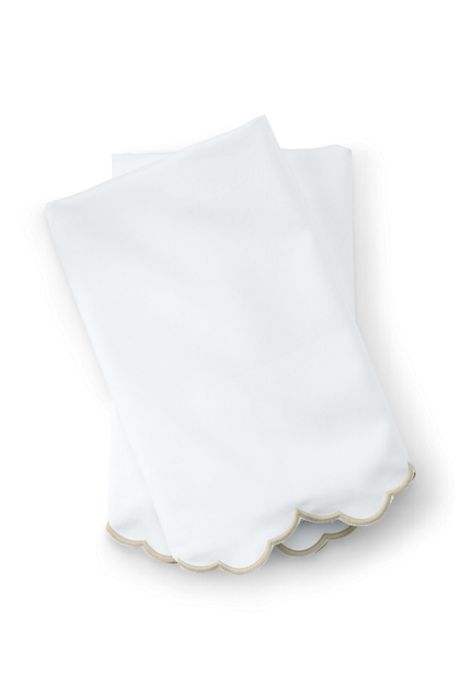 Supima Cotton No Iron Sateen Scallop Pillowcases - 400 Thread Count