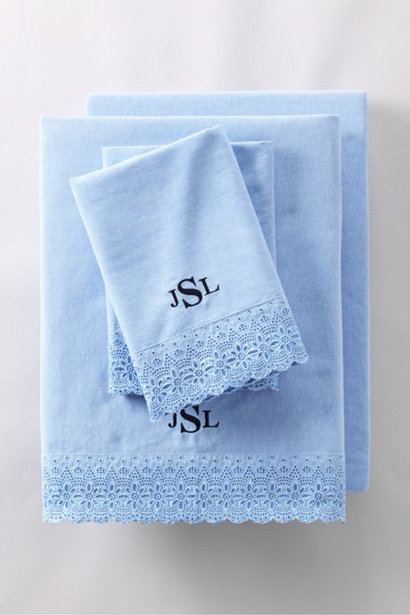 Oxford Scallop Embroidered Pillowcases