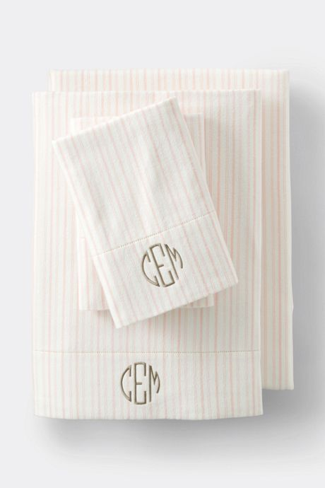 Supima Flannel Yarn Dyed Sheet Set - 6 oz.