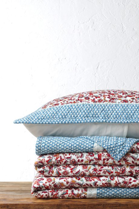 Printed Diamond Double Voile Quilt
