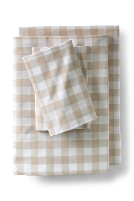 Easy Care Cotton Percale Yarn-Dyed Sheets - 200 Thread Count