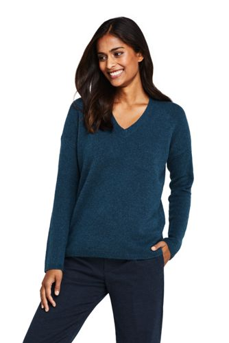 Women's Boucle V-neck Jumper