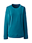 Women's Petite Long Sleeve Velour Top With Welt Pockets